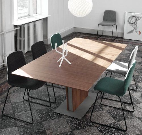 Occa extendable dining table shown in walnut httpwwwboconceptcom