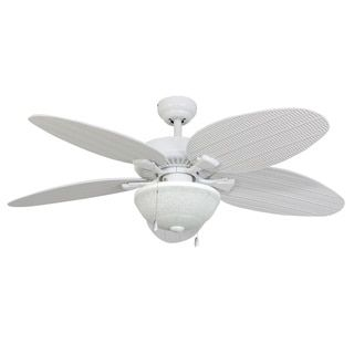Shop for EcoSure Siesta Key 52-inch White Bowl Light Outdoor Ceiling Fan with Wicker Blades and Remote Control. Get free shipping at Overstock.com - Your Online Home Decor Outlet Store! Get 5% in rewards with Club O!