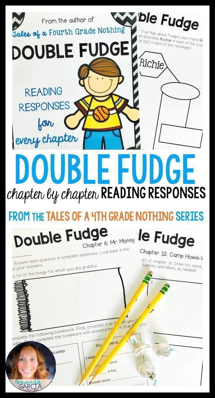 This novel study gives your readers fun, Common Core aligned reading responses for every chapter of Double Fudge! These activities are fun for students and perfect for book clubs, literature circles, guided reading, and independent reading.