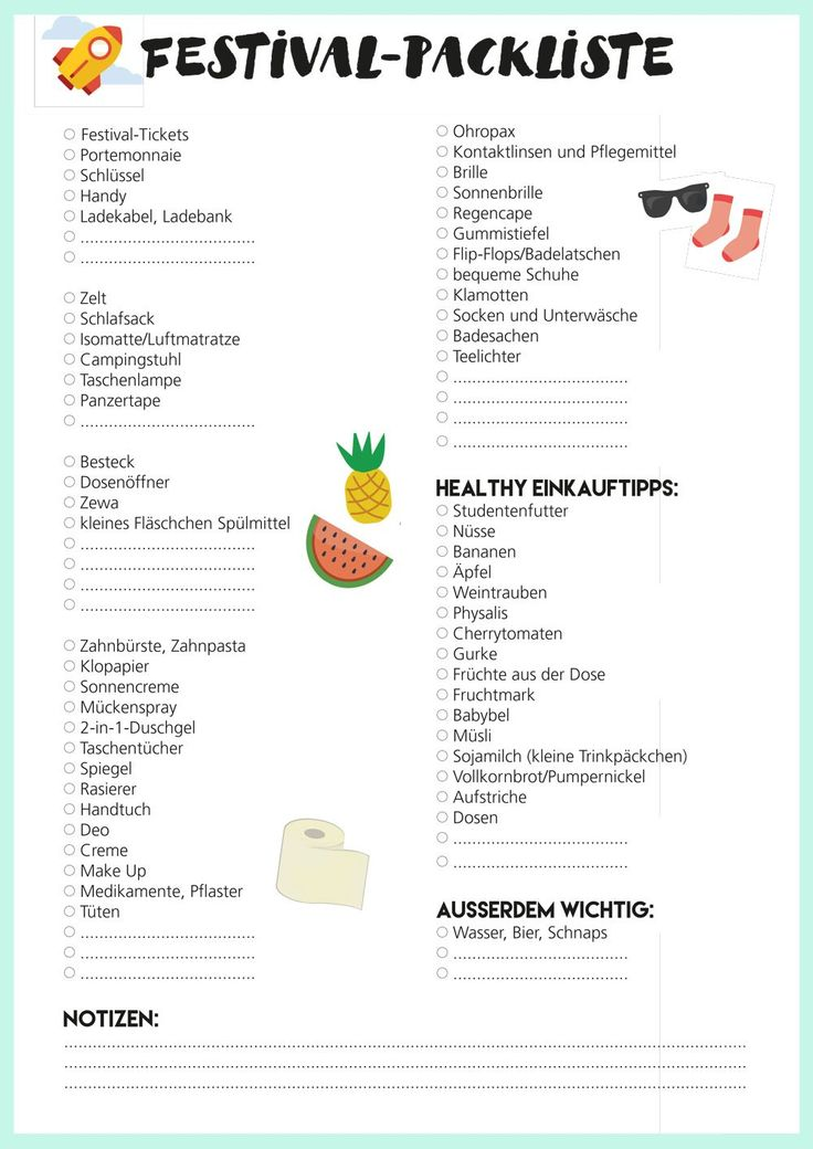 Foodguide: nutrition at a festival + free packing list