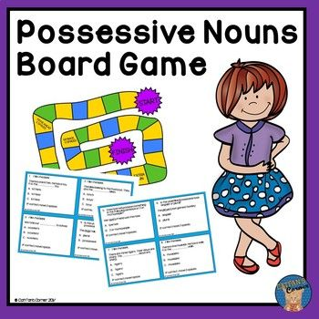This game is perfect for practicing possessive nouns.  It requires very little preparation.  Just copy, laminate, cut out, and you are ready to go.  It includes a set of rules, game cards, scoring sheets, and answer key.  Your students will be able to practice possessive nouns, the difference between possessive and plural nouns, singular and plural possessive nouns, etc.