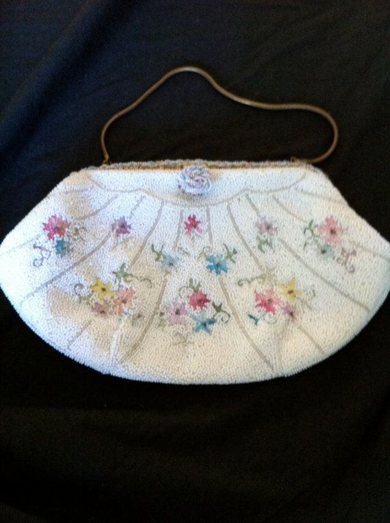 Apparently I am partial to french beaded bags!! Vintage French Beaded Bag by Questers on Etsy, $85.00