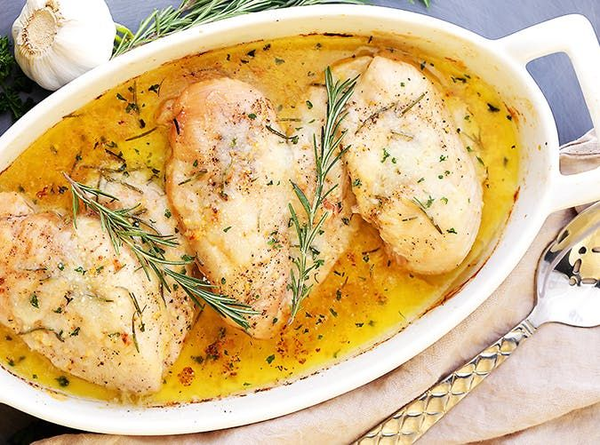 30 Easy Meals You Can Make with Frozen Chicken Breasts via @PureWow Butter baked chicken YUM!