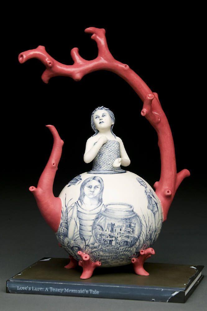 Red Weldon Sandlin    Love's TEAny Lure: A Mermaid's Tale  2007  Ceramic13.25 x 9 x 6.25 in.