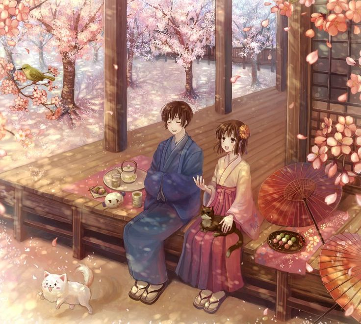 Romantic Day In A Japanese Anime Love Story