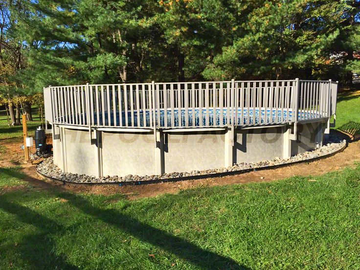 17 best images about semi inground pools on pinterest - Building a swimming pool on a slope ...
