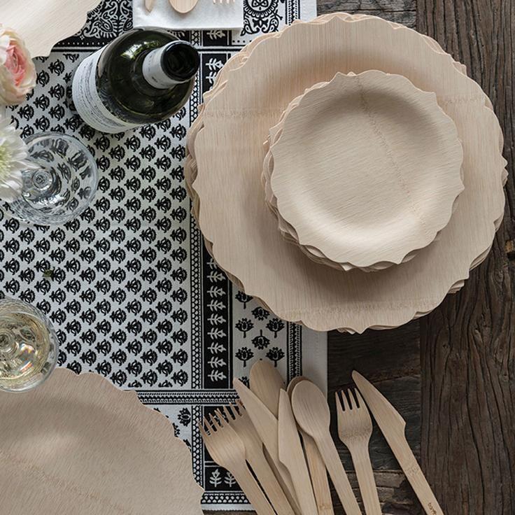 Pinterest & Veneerware® Disposable Bamboo Fancy Plates Bulk Case ...