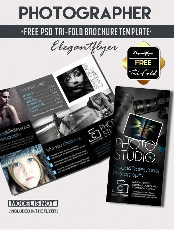 Photography Flyer Template Free Inspirational Grapher Free Tri Fold Psd Brochur Free Brochure Template Brochure Template Psd Brochure Templates Free Download