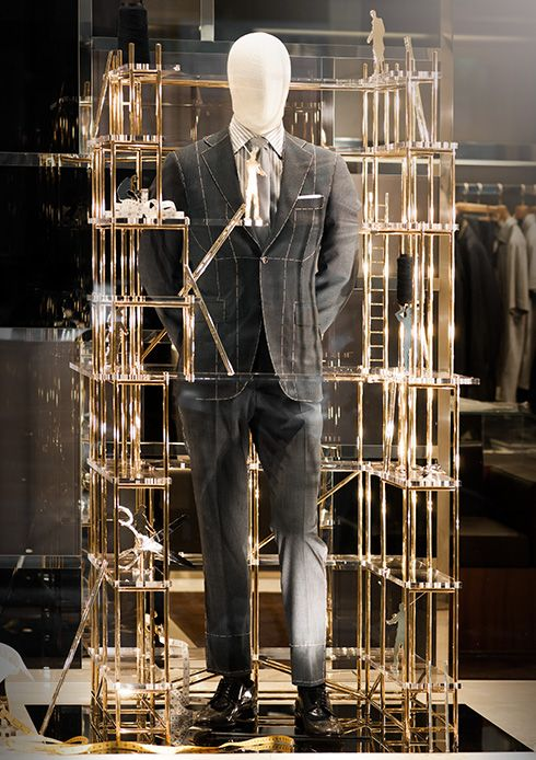 The new Su Misura window display presents a surreal and fantastic vision of the world #ledizione #features #mtm #canali1934