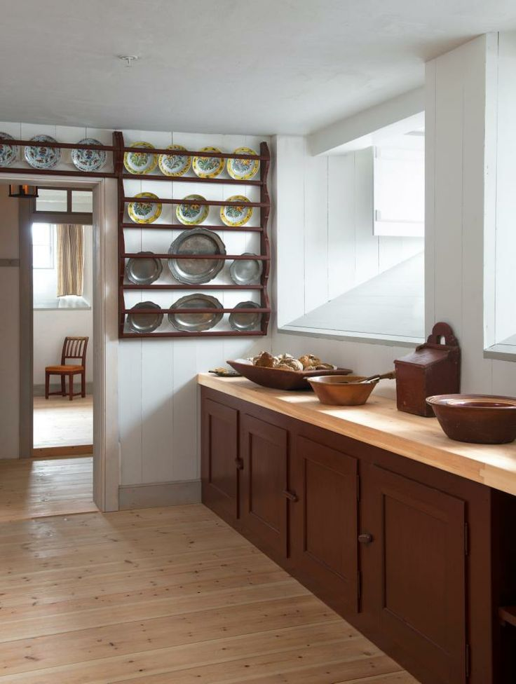 Kitchen - Eidsvollsbygningen is a historic Manor House in Eidsvoll in Norway, where the Constitution of Norway was made and signed on 17 May 1814. Photo: Espen Grønli