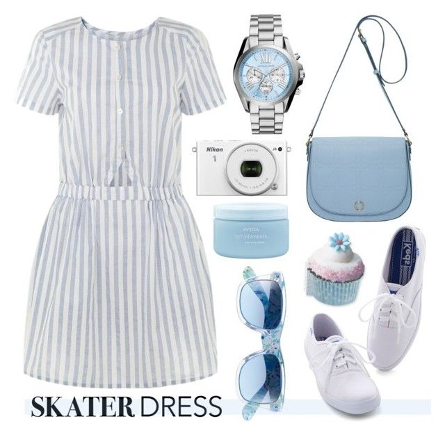 """""""Summer Style: Cutout Skater Dress"""" by helenevlacho on Polyvore"""