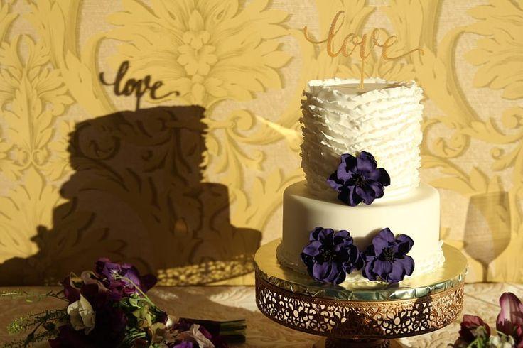 Photo of Katrina Rozelle Pastries & Desserts - Oakland, CA, United States. My beautiful wedding cake from Katrina Rozelle