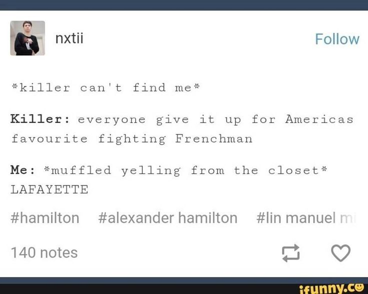 """This is how I would die. Or """"Peggy is the best Schuyler sister!"""" Or """"Alexander Hamilton was too good for Eliza"""" or anything like that..."""