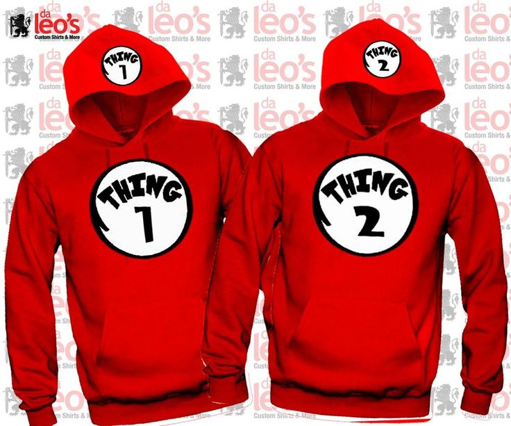 Thing1 Thing2 - Couples Matching Hoodies