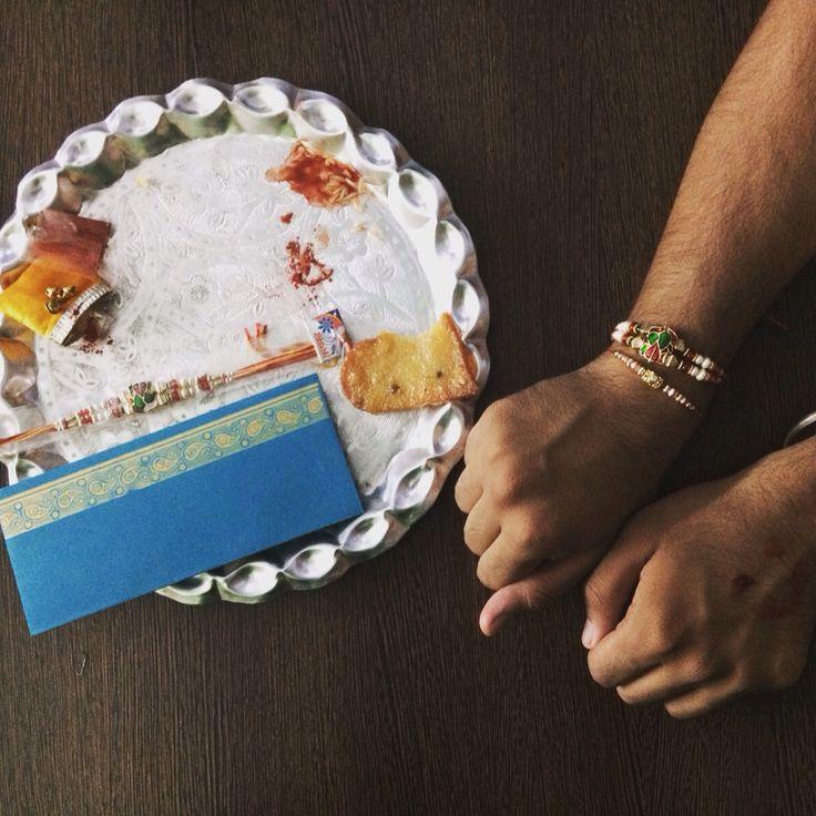 Happy Raksha bandhan. indian festival for brothers!