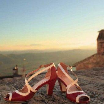Sandalo tanghera con tacco 60mm