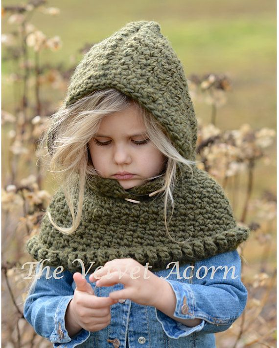 Crochet PATTERN-The Odessa Hood 6/12 months by Thevelvetacorn