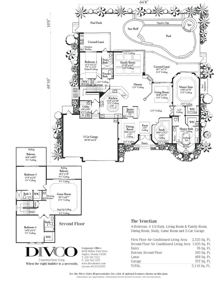 Luxury Home Floor Plans Marco Island Naples Custom