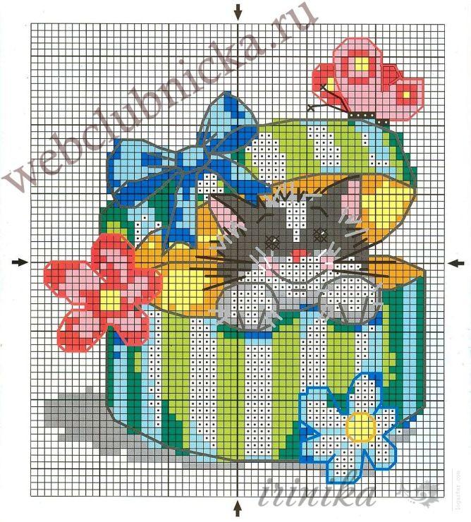 Вышивка крестом открыток с днем рождения, цветов