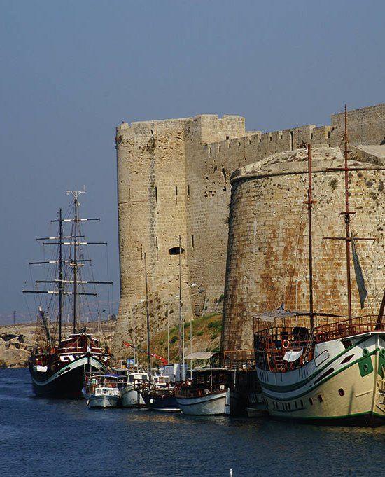 Castle in the city of Kyrenia in Cyprus