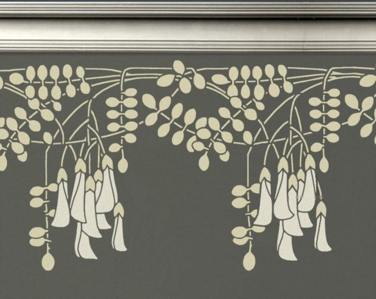 STENCIL for Walls - Black Locust Flowers BORDER - Reusable Wall Stencil. $44.95, via Etsy.