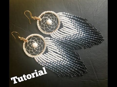 How to make Dream Catcher Earrings (part 1)DIY - YouTube