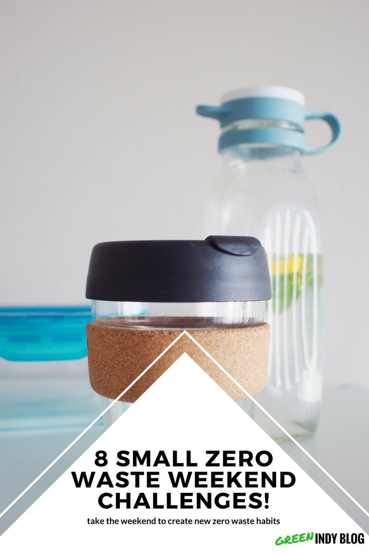Super easy ways to go zero waste. Try these over the weekend - zero waste lifestyle.