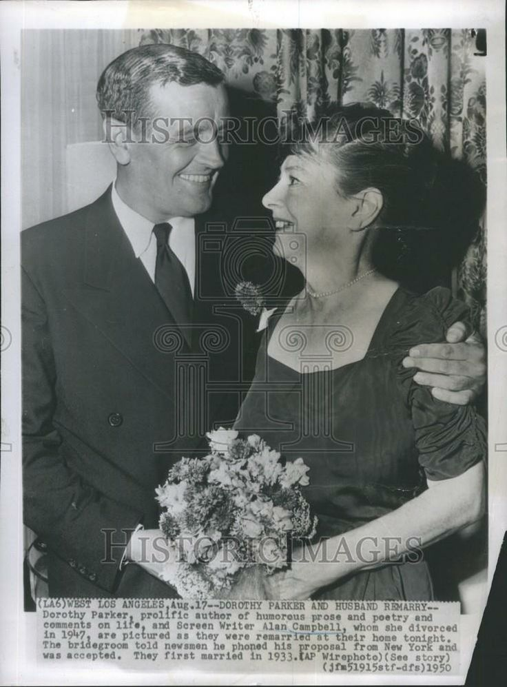 1950 Press Photo Author Dorothy Parker and Screen Writer ...