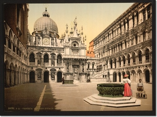 Interior of the Doges' Palace, with the Giant's Staircase, Venice, Italy Print