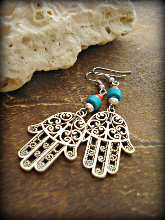 Boho Earrings  Boho Jewellery  Gypsy Earrings  by HandcraftedYoga, $21.00