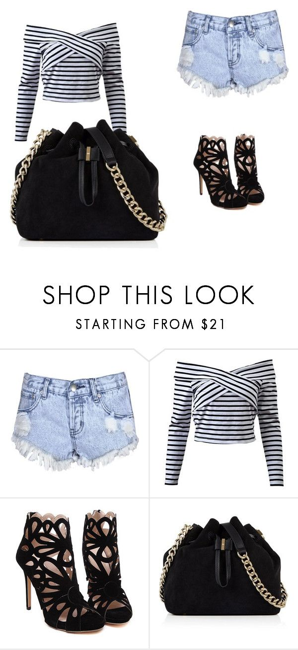 """""""best clothes they could have here"""" by tahrahholmes ❤ liked on Polyvore featuring Glamorous and Karen Millen"""