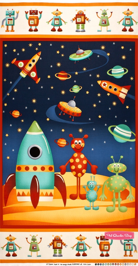 Space multi final frontier quilt panel sku 877 1 space by for Space fabric quilt