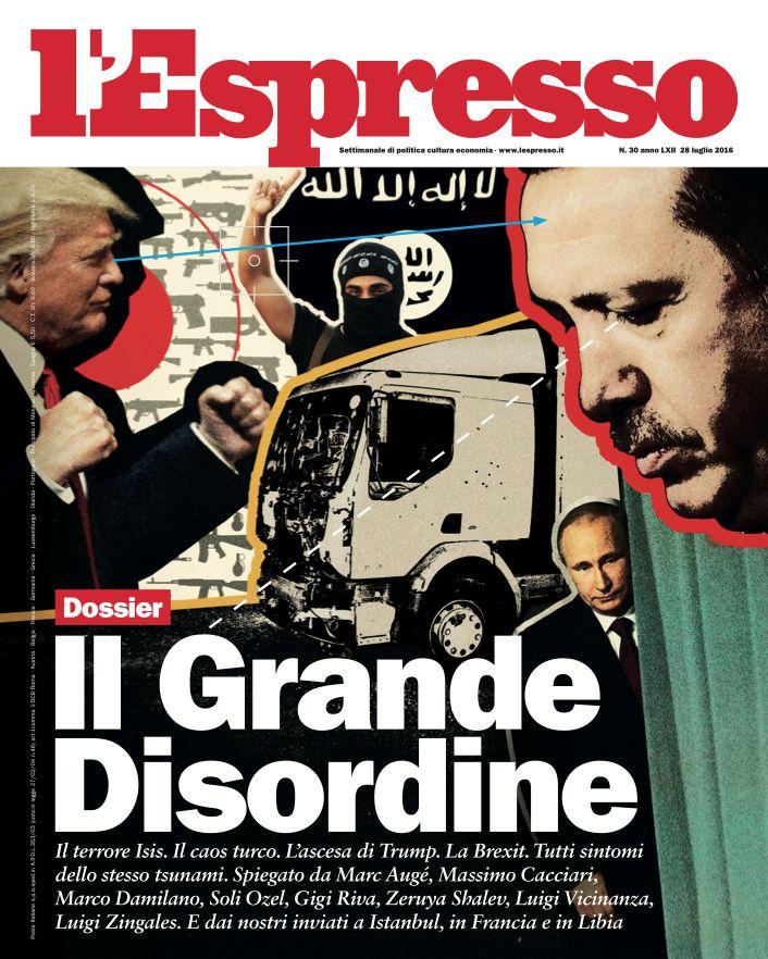 La copertina dell'Espresso in edicola venerdì 22 luglio