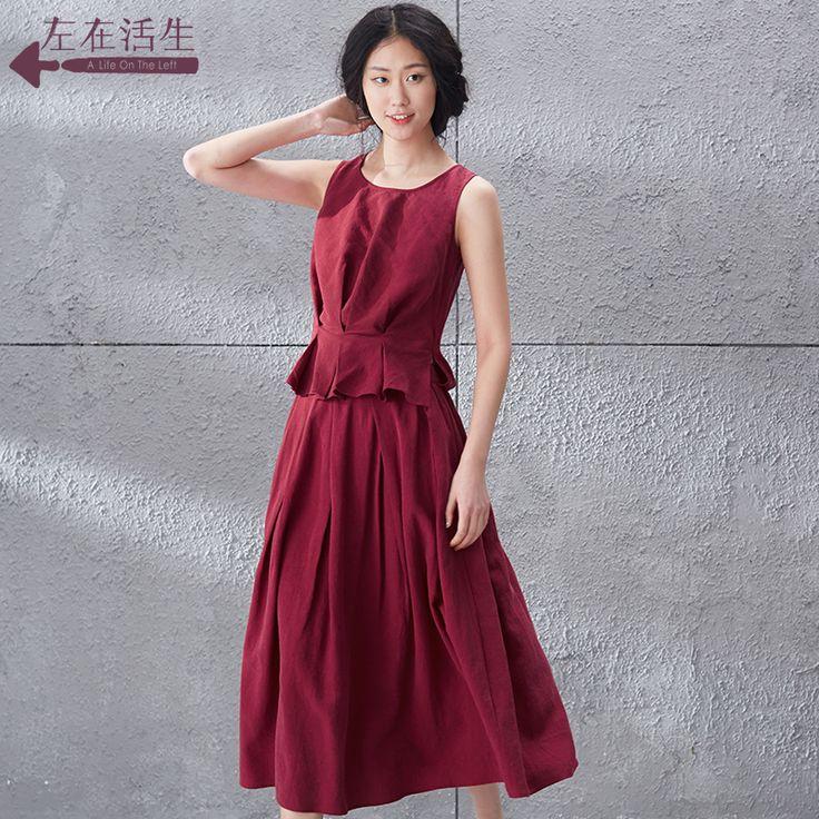 Condiții de viață în stânga 2015 verii nou Slim Tencel rochie de bumbac fără mâneci vesta fusta 9521030025 - Zuru air Services
