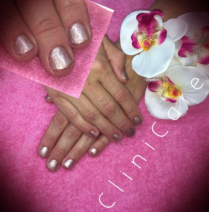 CND SHELLAC Chiffon Twirl on short nails @ CliniCare