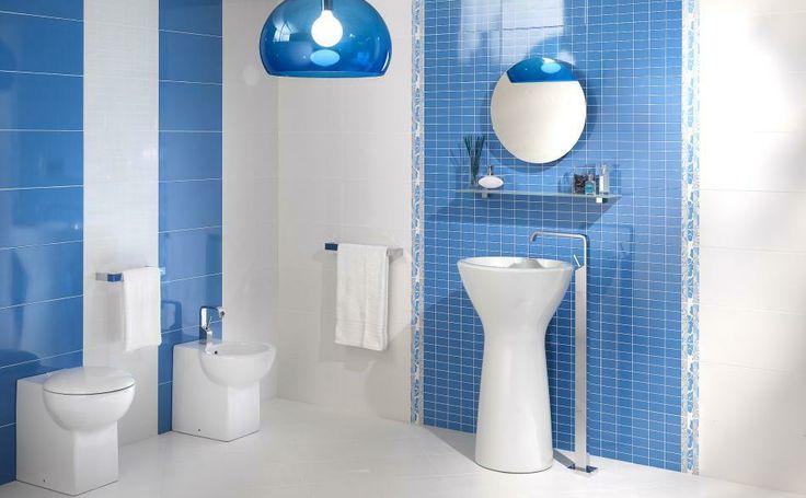 Piastrelle colorate per il rivestimento bagno in ceramica - Rivestimento bagno shabby ...