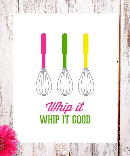 'Whip It' Whisk Print