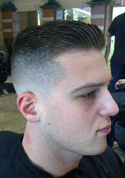 Captivating Taper Fade Slick Back