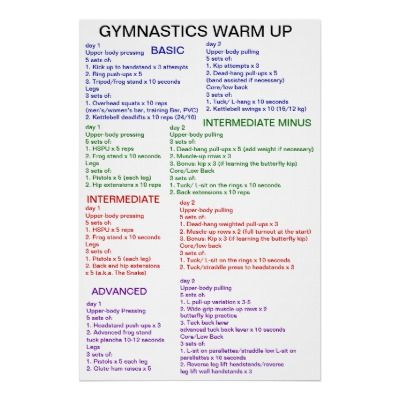 Gymnastics Warm-Up Posters from Zazzle.com