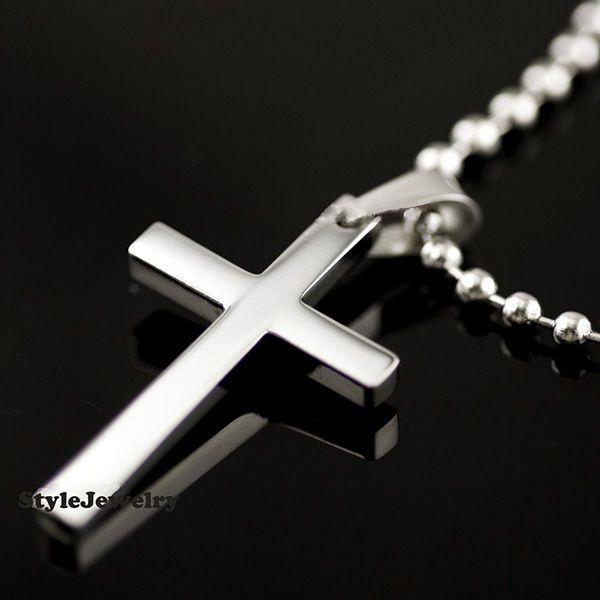56 best mens crosses chains images on pinterest cross pendant titanium mens silver cross pendant with chain necklace classic mn17 aloadofball Images
