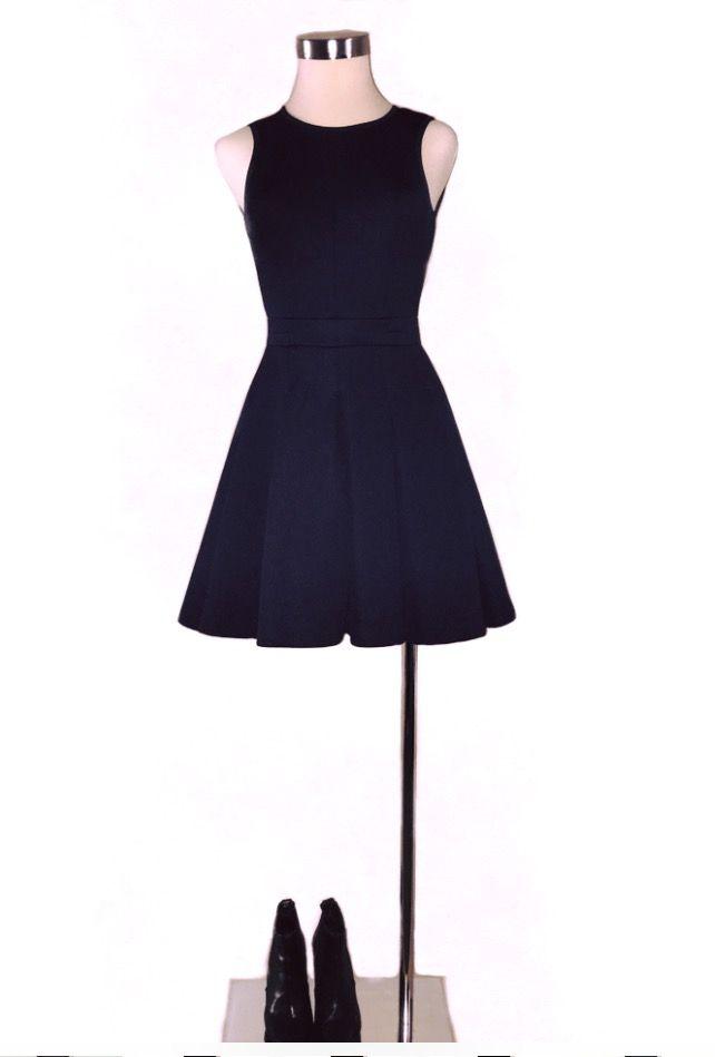 Comptoir Des Cotonniers vestido azul marino neopreno
