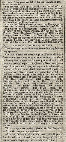 Gettysburg Address - NY Times article