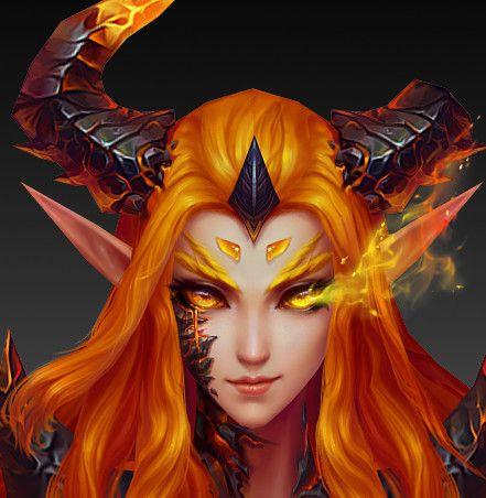 Favorite world of Warcraft ——, F L on ArtStation at https://www.artstation.com/artwork/OdWgk