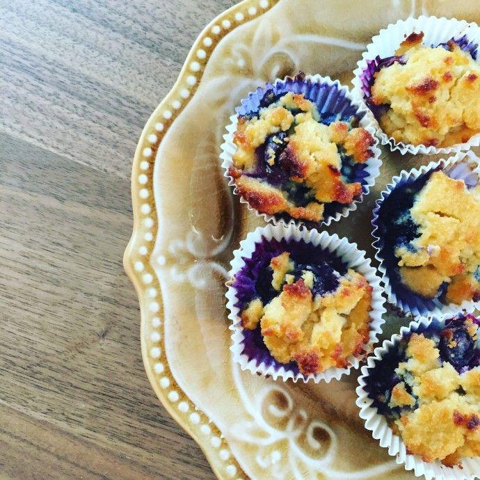 blauwe bessen muffins met citroen