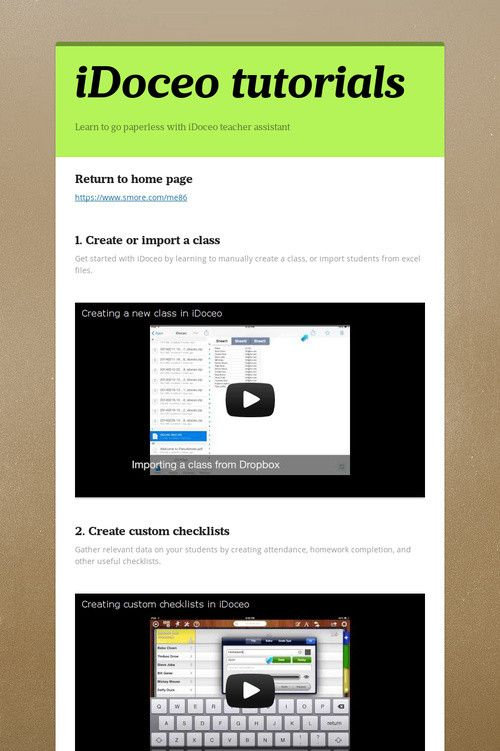 iDoceo tutorials
