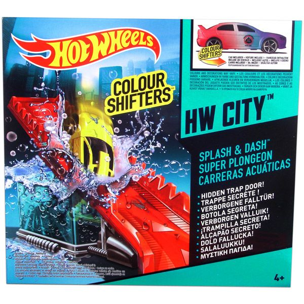 Hot Wheels City: Színváltós kisautók alappálya - Splash and Dash