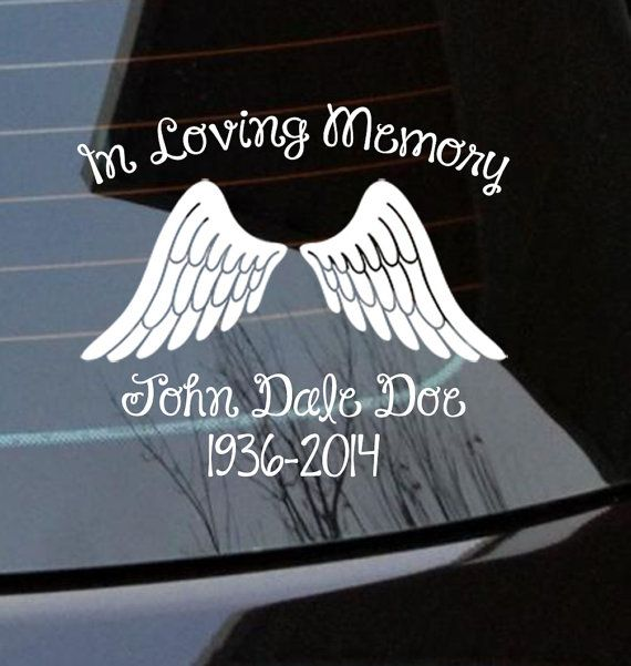 Custom in loving memory car window decal