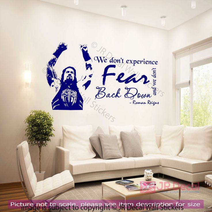Roman Reigns Quotes Wall Stickers WWE wrestling figure Wall decal Sports Mural