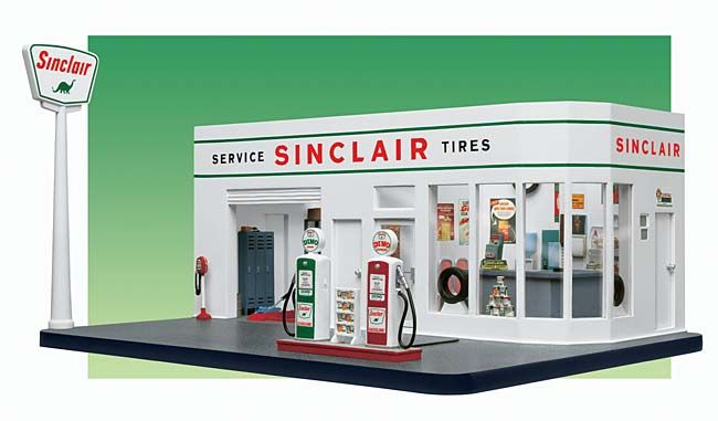 Danbury Mint 1 24 50 S Sinclair Gas Station Diecast Car