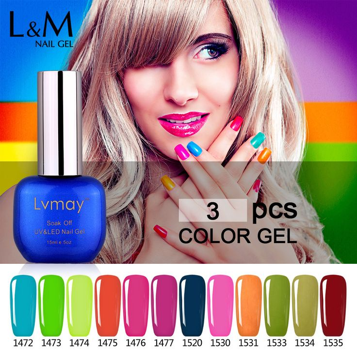 3 Bottle Lvmay Color Nail Glitter Lak Set Lot UV Gel Base and Top Coat Lacquer Tools Professional Acrylic Nail Equipment #Affiliate